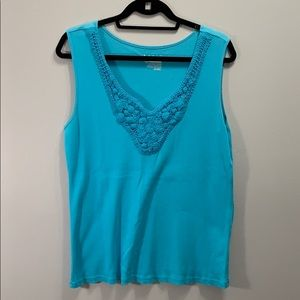 Tank top with crochet front